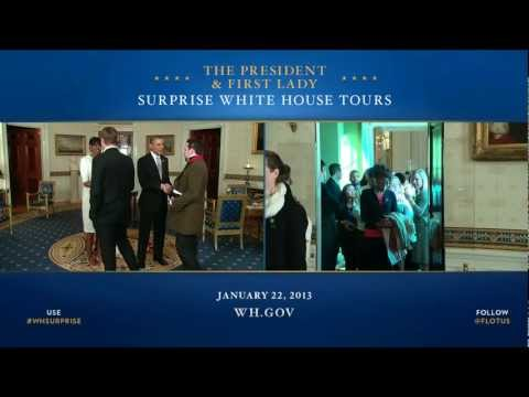 Barack and Michelle Obama's Surprise: Hosting White House Visitors (2013)