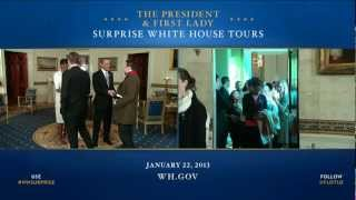 Barack and Michelle Obama s Surprise: Hosting White House Visitors (2013)