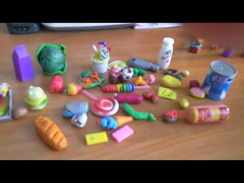 Пластилиновая еда для кукол