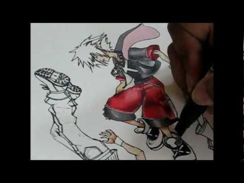 Drawing the Kingdom Hearts Dream Drop Distance Cover!