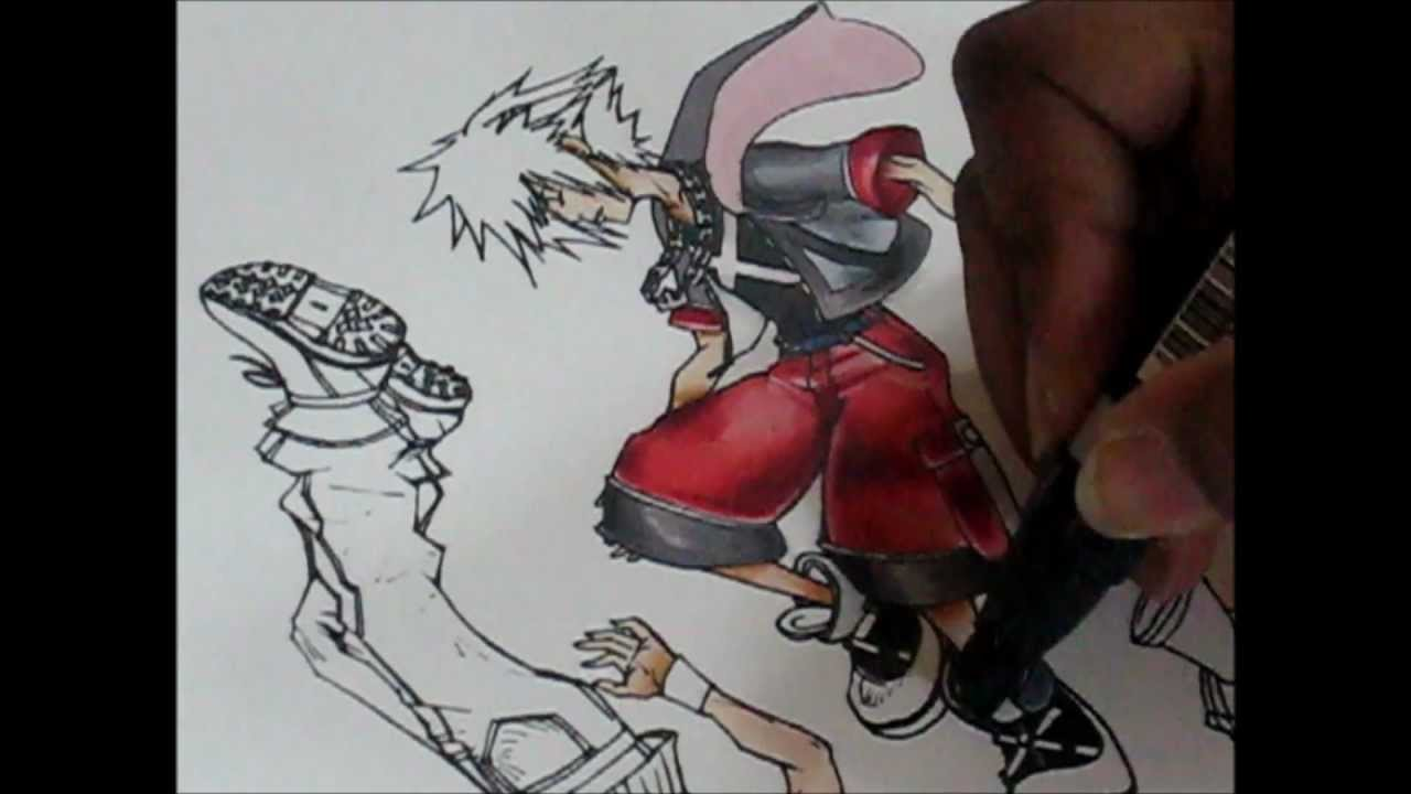 Drawing The Kingdom Hearts Dream Drop Distance Cover Youtube