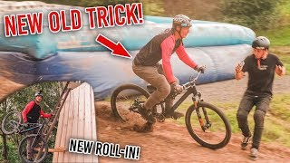 BACKFLIP DOUBLE TAILWHIP wieder GELANDET + Neuer ROLL-IN! MTB SLOPESTYLE TRICKS