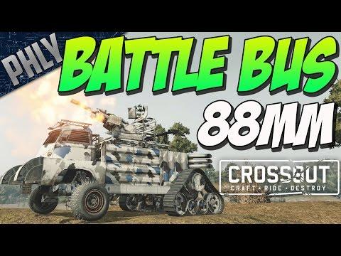 88MM RUSSIAN BATTLE BUS (Crossout Gameplay)