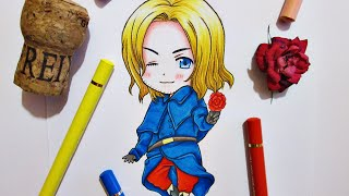 Speed Drawing Chibi France || Hetalia
