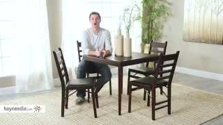 Cosco 32 In. Square Premium Wood Folding Table - Product Review Video