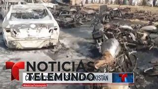 Camión cisterna estalla en Pakistán y deja centenas de muertos y heridos | Noticiero | Telemundo