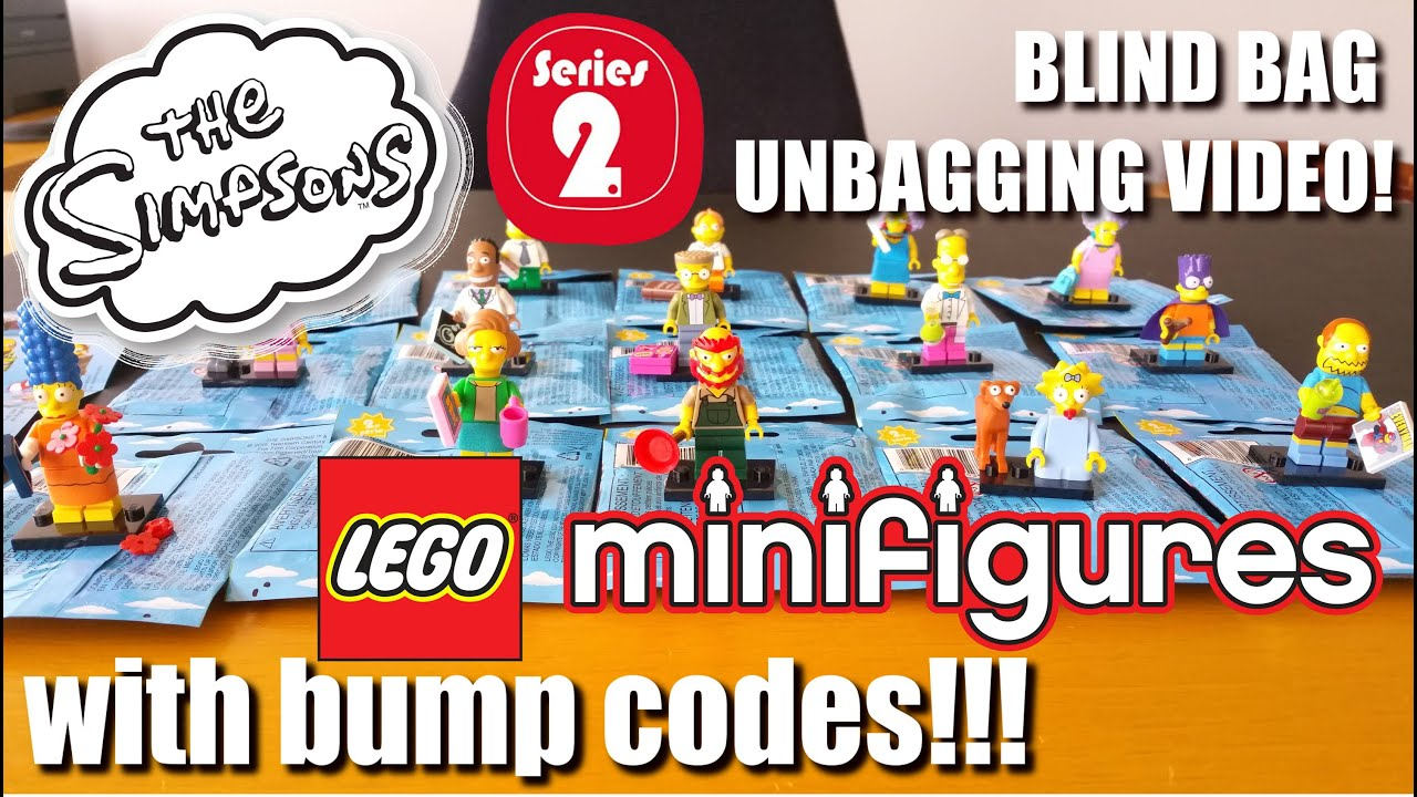Bump codes for lego minifigures simpsons series 2 unbagging review video missing homer youtube