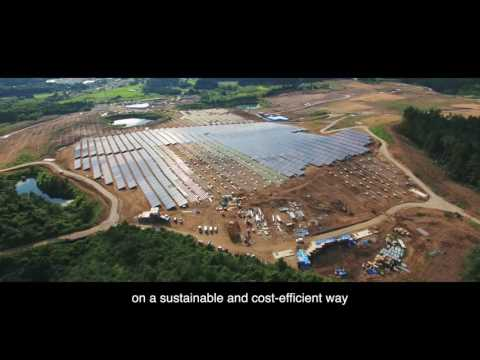The solar power plant in Gunma (Japan)