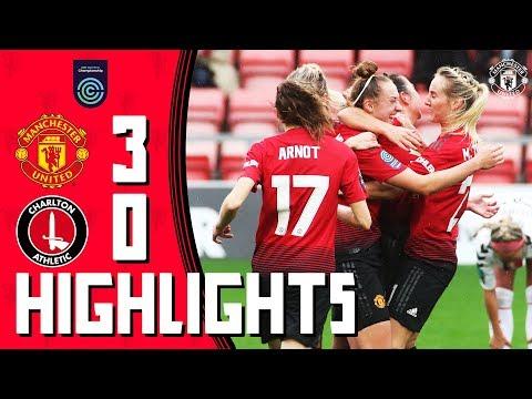 Highlights | Manchester United Women 3-0 Charlton Athletic Women | FA Women's Championship
