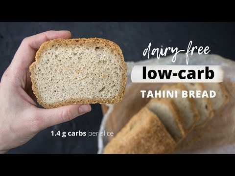 Low-carb TAHINI BREAD | Dairy-free Keto Bread Recipe | Easy Keto Recipes