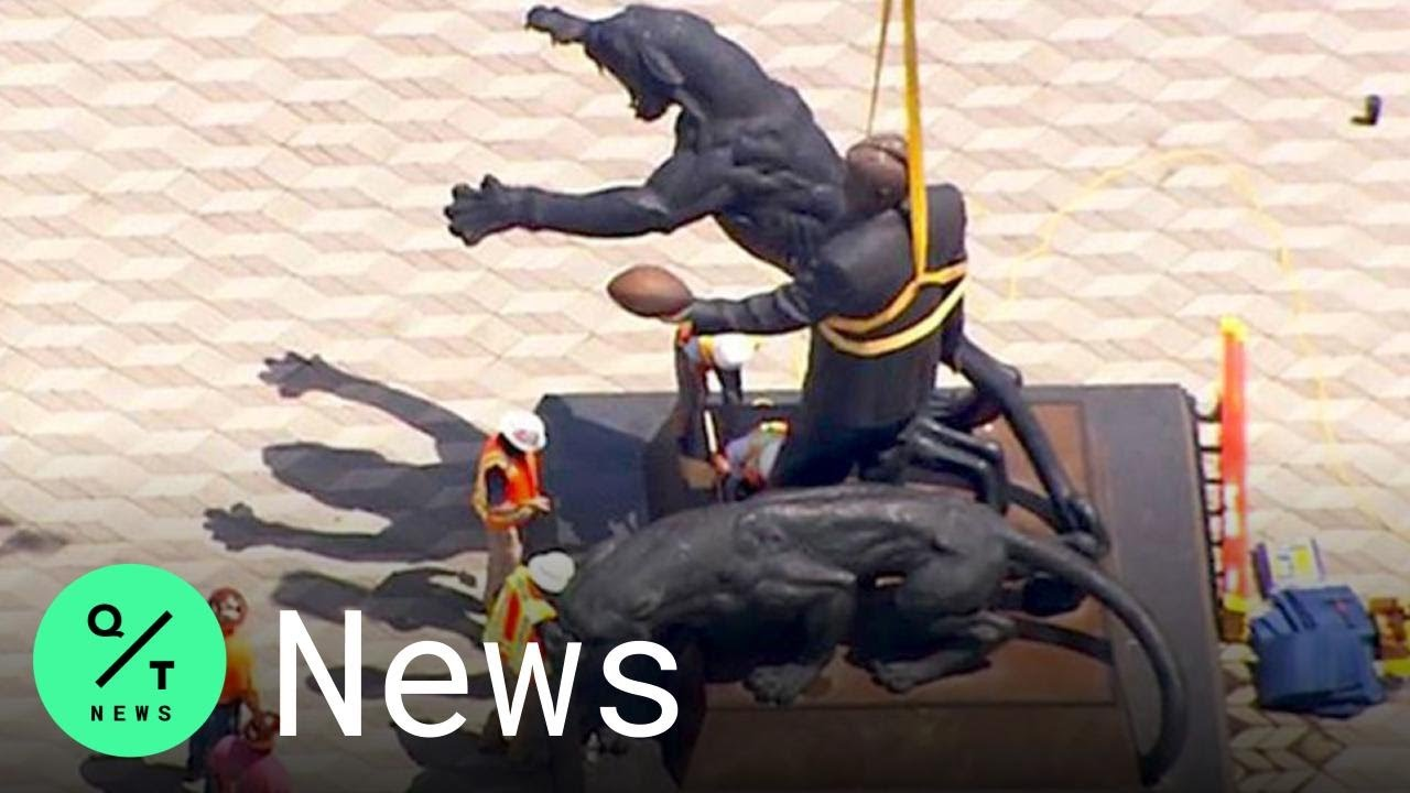 Carolina Panthers remove statue of former team owner Jerry ...