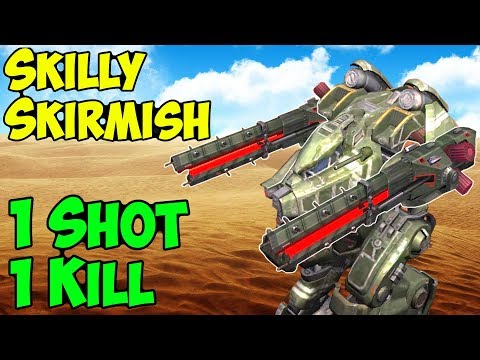 1 Shot 1 Kill - Funny Skill Skirmish War Robots Rogatka Gameplay - WR