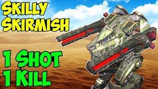 1 Shot 1 Kill - Funny Skill Skirmish War Robots Rogatka Gameplay - WR