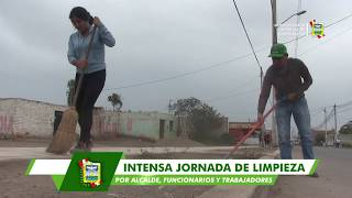 MUNICIPIO DISTRITAL EMPRENDIÓ INTENSA JORNADA DE EMBELLECIMIENTO DE LA AVENIDA MANUEL OYOLA
