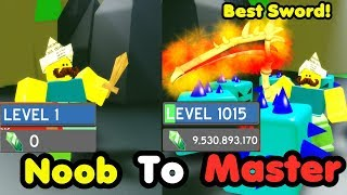 Noob To Master! Level 1000! 9 Billion Gems! Got Best Sword! Slayed Frost Guard! - Slaying Simulator thumbnail