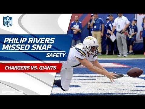 Philip Rivers Misses the Snap & New York Scores a Safety! | Chargers vs. Giants | NFL Wk 5