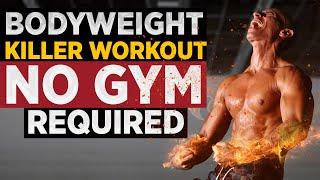Killer SHRED Workout! NO EQUIPMENT BODYWEIGHT !   Frank Medrano