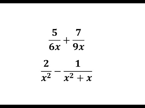 Add Or Subtract Basic Rational Expressions With Unlike Denominators -  YouTube