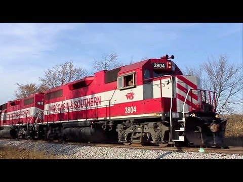 Chasing WSOR 3804 on T010 Horicon to Richfield With Bonus CNs and CPs 10/21/2012