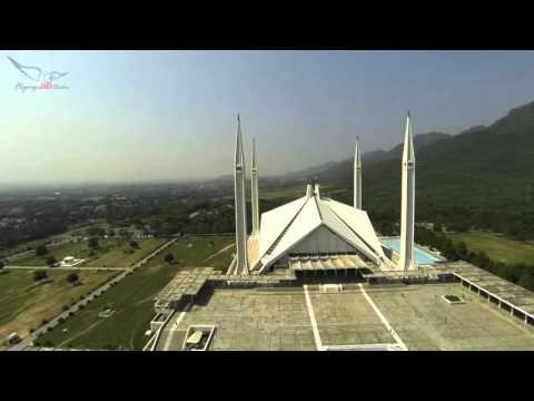 Aerial view of Beautiful Faisal Mosque   Islami Jamiat -e- Talaba Pakistan