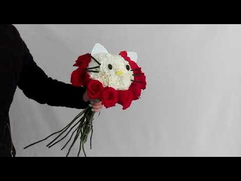 Tutorial De Arreglo Floral De Hello Kitty