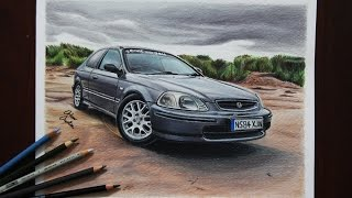 Honda Civic | United Kingdom | Car Drawing