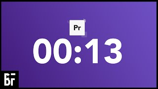 Make A Countdown in Premiere - Updated 2021 Method