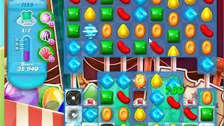 Candy Crush Soda Saga Level 1158 No Boosters