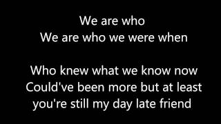 A Day Late by Anberlin w/ lyrics