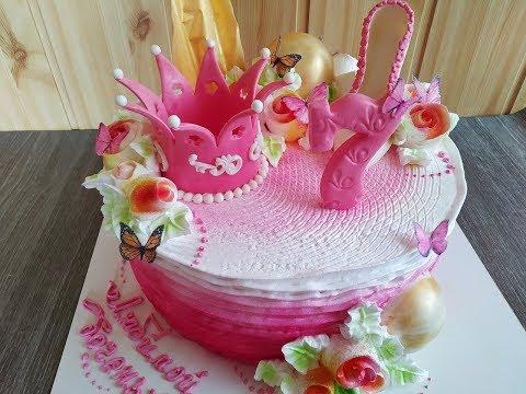 Белково- заварное украшение торта .Пошагово.Розы из крема.Шоколадный, мастичный декор.Юлия Клочкова.