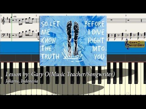 Ed Sheeran Dive Divide Album Easy Piano Chords Tutorial Lesson Sheet