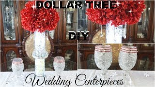 DOLLAR TREE DIY BLING WEDDING CENTREPIECES  DIY GLAM DECOR   HOME DECOR IDEAS