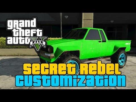 GTA 5 ONLINE : Secret Rebel Customization - Clean Rebel Look a Like Secret Car