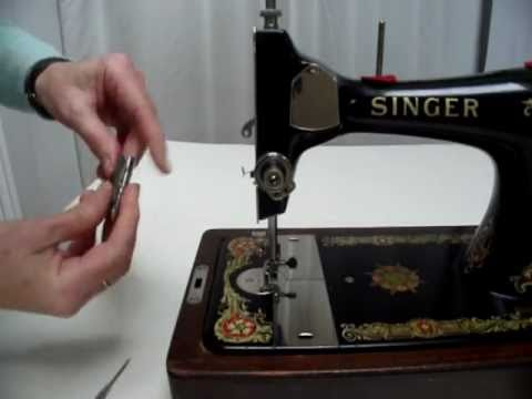 How to adjust the Tension on a Vintage Long Bobbin Sewing Machine - 1934 Singer  128K Indian Star