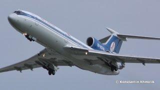 Ту-154 Белавиа взлёт Домодедово 2016 Tu-154 taxi & takeoff Domodedovo DME(Ту-154М EW-85748 разбег с ходу, звук улёт, Домодедово август 2016 Tu-154М taxi & takeoff at Domodedovo, August 2016. Super sound!, 2016-09-26T21:59:30.000Z)