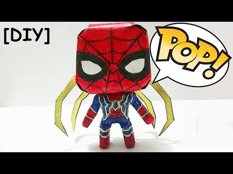 Homem Aranha de Papel! Funko Pop (Guerra Infinita)