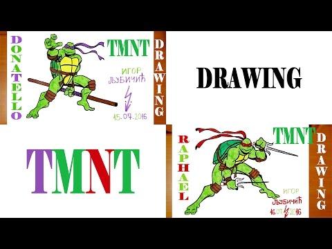 Cómo dibujar tortugas Ninja mutante adolescente TMNT Easy - YouTube