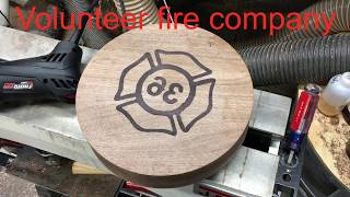 # 33 - Wood Turning - Walnut & Resin Fireman's bowl