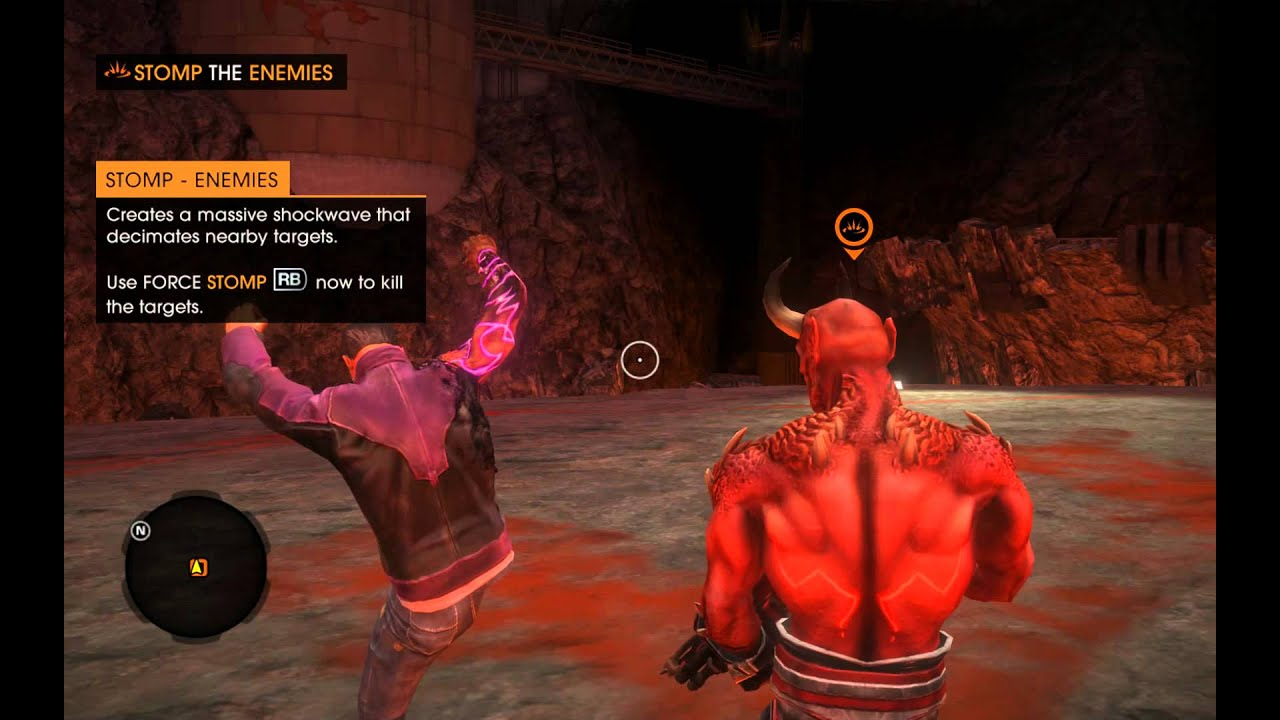 Saints Row: Gat Out of Hell - Force Stomp (Arcane Power) Tutorial,  Diversion