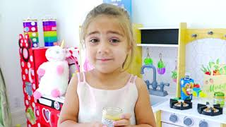 Nastya Artem and Mia found a doll and pretended to be a parent