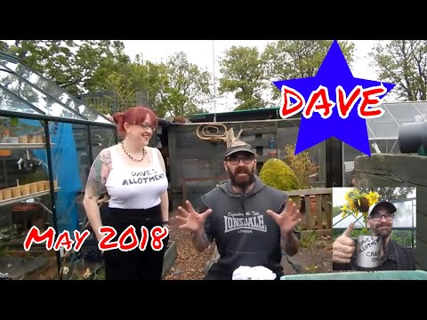 Dave's Allotment. Sowing Seeds, Potting On & Planting Out. May 2018