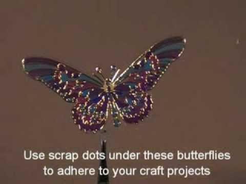 Craft Tutorial - 3D Gold Butterfly