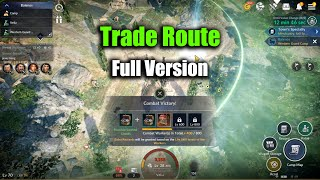 Black Desert Mobile Trade Route Full Version & Lvl 400 Combat Rewards