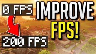 How to Get Higher FPS in FORTNITE / Increase FPS in Season 9! (FPS BOOST)