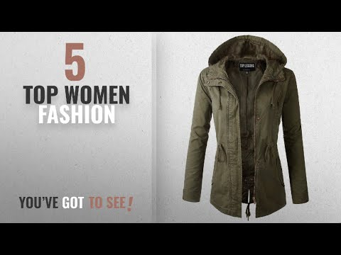 Top Women Fashion [2018 Best Sellers]: TL Women's Militray Anorak Parka Hoodie Jackets With