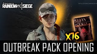 "Rainbow Six: Siege ""OUTBREAK PACK OPENING"" - 16 Packs & Ash Elite? (German/Deutsch)"