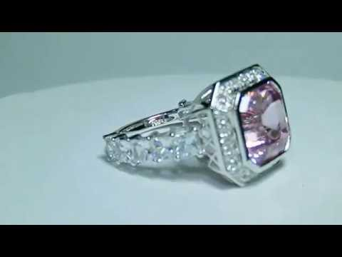 Custom Made PInk Sapphire Ring Video