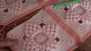 motif birleştirme nasıl yapılır ( popcornlarla yıldızlı motif ) ozlemdemkut