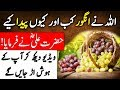 Hazrat Ali (R.A) ka Farman   ALLAH Nay Angoor Kab or kiyo Paida Kiye   Grapes   Islam Advisor