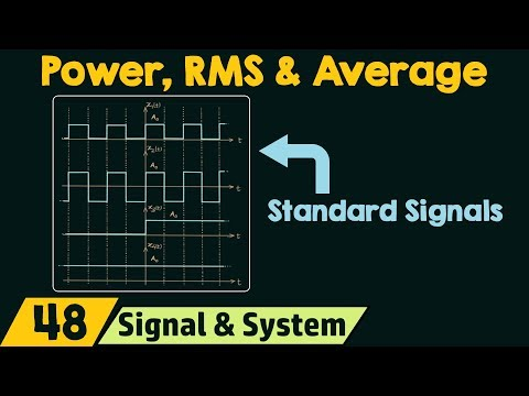 Power, RMS & Average Values Of Standard Signals